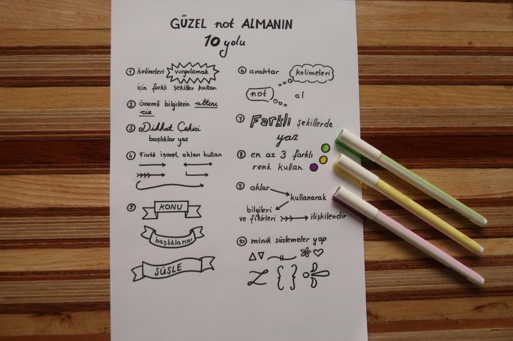 Etkili not almanın 10 yolu